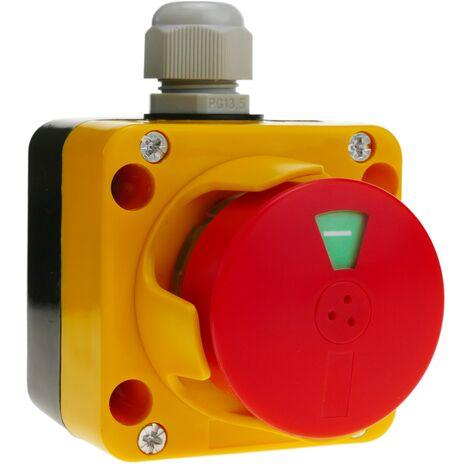 BeMatik - Caja de stop parada de emergencia de la serie LAY5