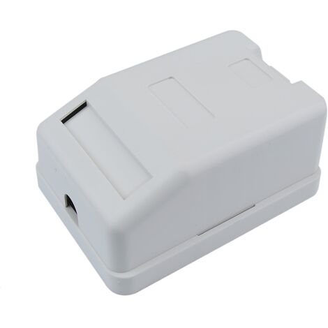 BeMatik - Caja de superficie de 1 RJ45 Cat.6 FTP