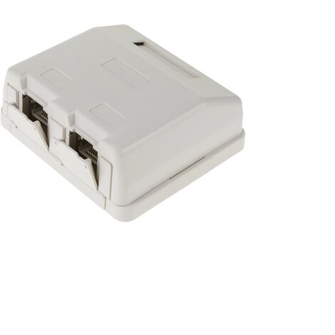 BeMatik - Caja de superficie de 2 RJ45 Cat.6 FTP