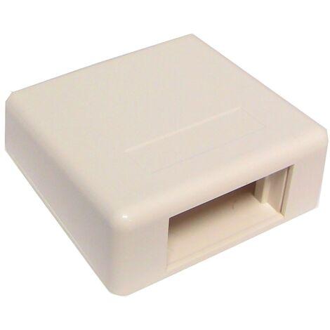 BeMatik - Caja de superficie de 80x80x30mm para módulo de 45x22,5mm