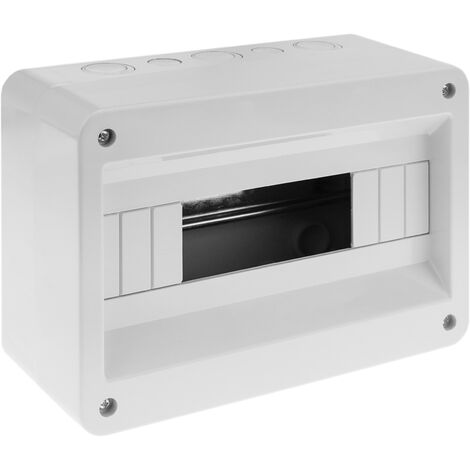 BeMatik - Caja de superficie de automatismos eléctricos para 12 módulos de 18 mm de plástico ABS
