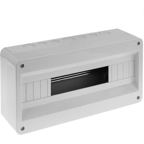 BeMatik - Caja de superficie de automatismos eléctricos para 18 módulos de 18 mm de plástico ABS