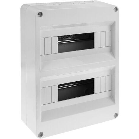 BeMatik - Caja de superficie de automatismos eléctricos para 24 módulos de 18 mm de plástico ABS