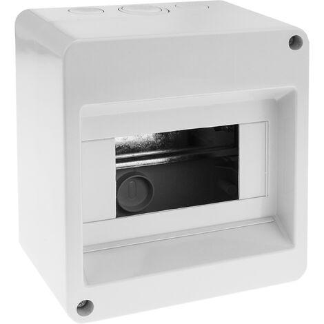 BeMatik - Caja de superficie de automatismos eléctricos para 6 módulos de 18 mm de plástico ABS