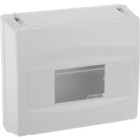 BeMatik - Caja de superficie de automatismos eléctricos para 8 módulos de 18 mm de plástico ABS