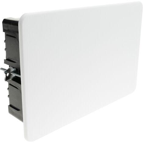 BeMatik - Caja empotrada de registro rectangular 155x100x48mm para paredes huecas