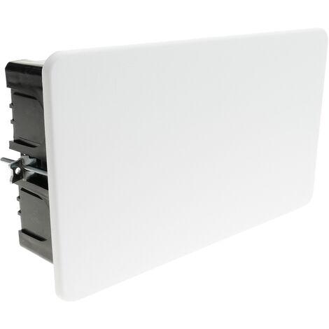 BeMatik - Caja empotrada de registro rectangular 160 x 100 x 49 mm para paredes huecas