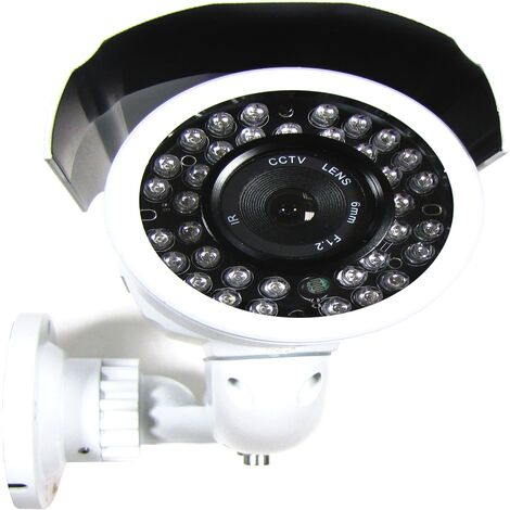 BeMatik - Cámara Profesional CCTV Soporte Pared (36xIR-LED 6.0mm) gris