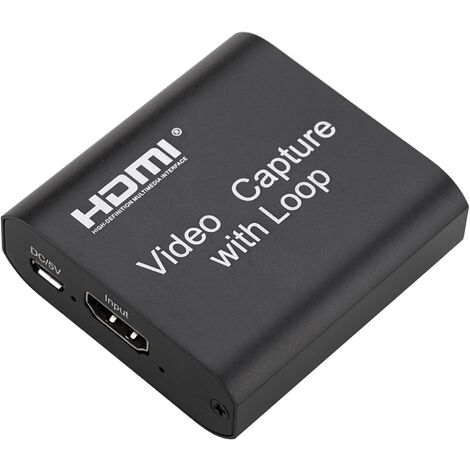 BeMatik - Capturadora de vídeo HDMI por USB compatible con 4K FullHD 1080P