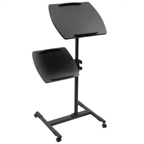 BeMatik - Carrito para proyector y ordenador portátil. Soporte negro para notebook con ruedas