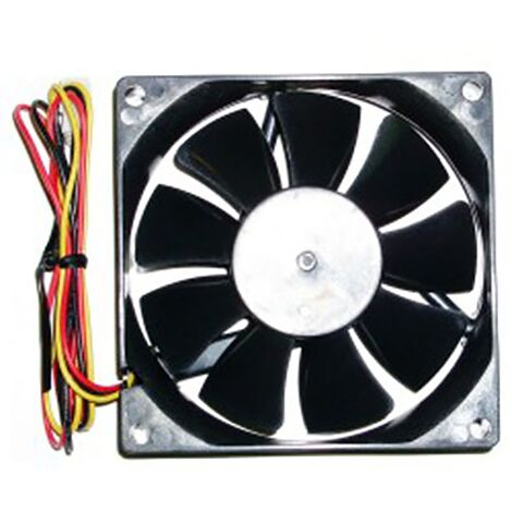 BeMatik - Case fan 80x80x20 mm for 12 VDC for computer and chassis with ball bearing 2X