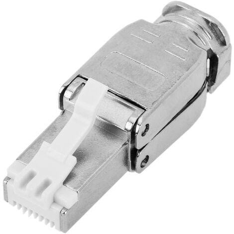 BeMatik - Cat.6A RJ45 male FTP connector toolless crimp