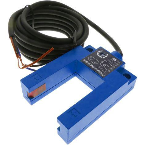 BeMatik - Cellule photoélectrique capteur interrupteur commutateur NPN NO 10-30VDC barrage