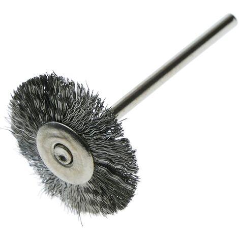 BeMatik - Cepillo de acero circular de 21mm para mini amoladora