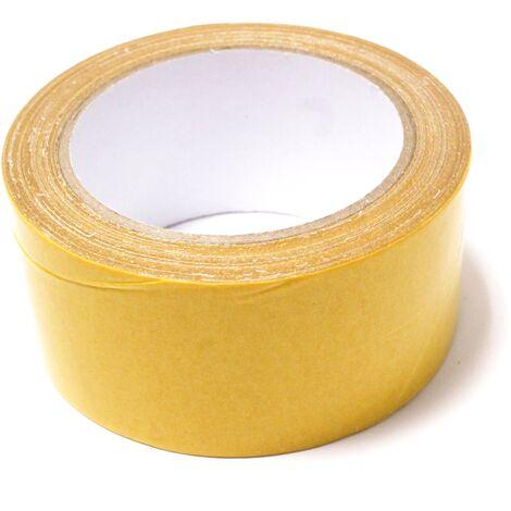 BeMatik - Cinta adhesiva de doble cara de ancho 50mm en bobina de 10m