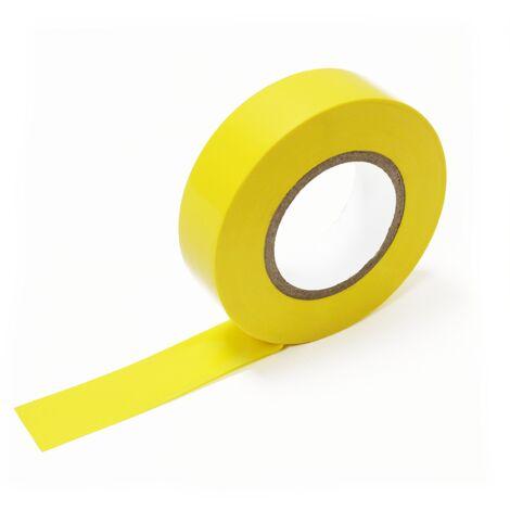 BeMatik - Cinta aislante amarilla de 0,15x19mm en bobina de 20m