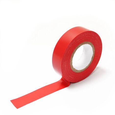 BeMatik - Cinta aislante roja de 0,15x19mm en bobina de 20m