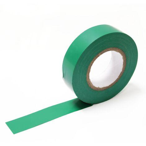 BeMatik - Cinta aislante verde de 0,15x19mm en bobina de 20m