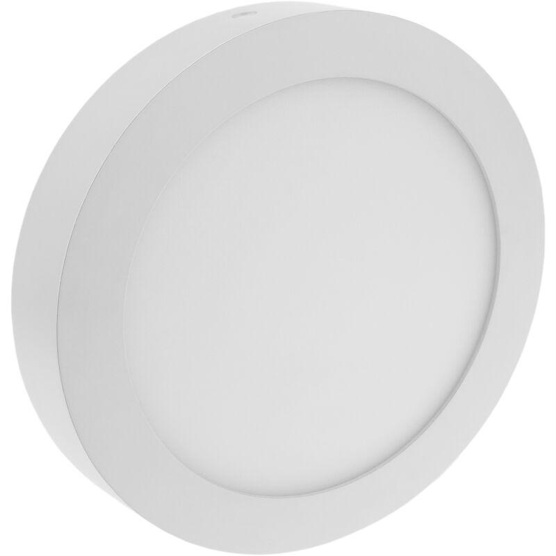Circolare LED Panel 12W da incasso a superficie 170 millimetri bianco caldo - Bematik