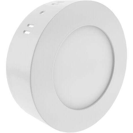 BeMatik - Circulaire du panneau LED 6W Spot 120mm surface blanche froide journée