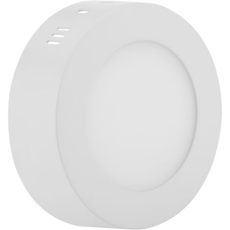 BeMatik - Circular surface downlight LED Panel 6W Warm White 120mm