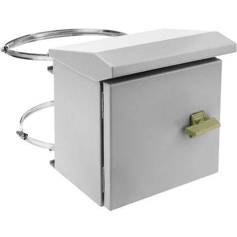 BeMatik - Coffret électrique en métal avec protection IP65 pour fixation au poteau 200 x 200 x 150 mm