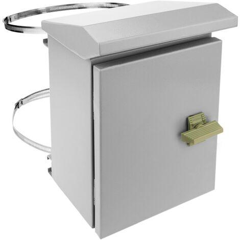 BeMatik - Coffret électrique en métal avec protection IP65 pour fixation au poteau 200 x 250 x 150 mm