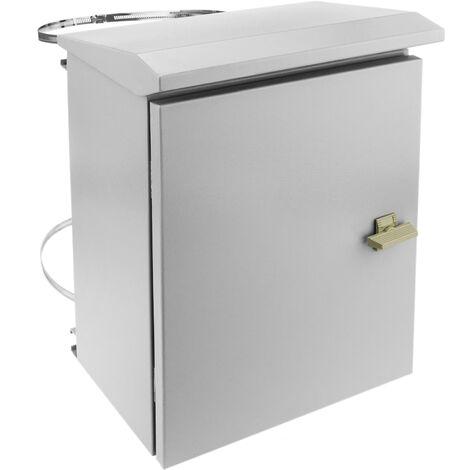BeMatik - Coffret électrique en métal avec protection IP65 pour fixation au poteau 300 x 400 x 200 mm