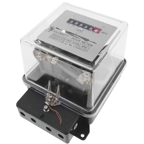 BeMatik - Compteur d'énergie électricité monophasé wattmetere 10A 230V 50Hz 30A max de plastique transparent