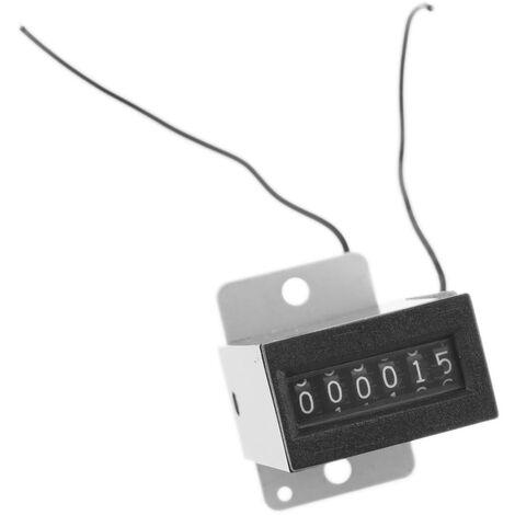BeMatik - Compteur d'impulsions et des événements électromagnétiques de 6 chiffres avec fixation