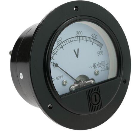 BeMatik - Compteur électrique analogique de panneau ronde 70mm 500V voltmètre