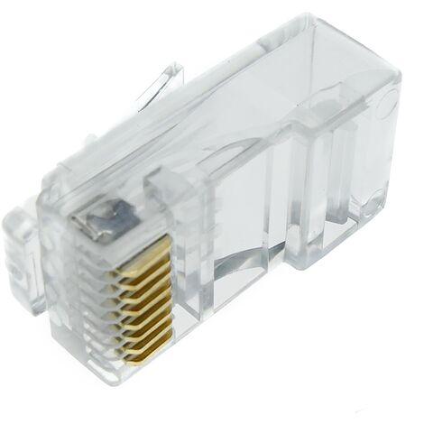 BeMatik - Conector UTP Cat.6 RJ45 macho para crimpar a cable 25-pack