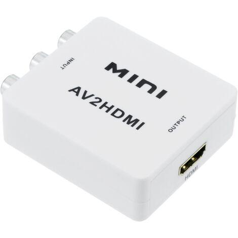 BeMatik - Conversor de vídeo compuesto CVBS y audio a HDMI modelo compacto