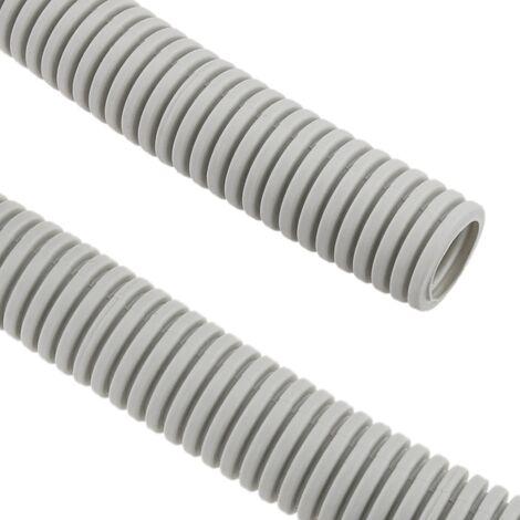 BeMatik - Corrugated tube LHA M-40 25 m Gray