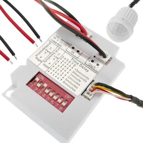 BeMatik - Detector de movimiento por infrarrojos de techo empotrable mini DC