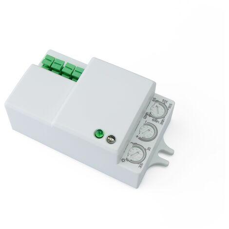 BeMatik - Detector de movimientos compacto mini con control de tiempo luz y distancia