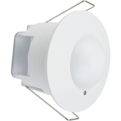 BeMatik - Detector de movimientos empotrado techo con control de tiempo luz y distancia