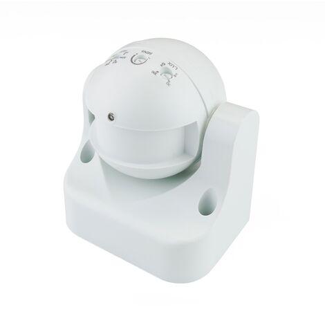 BeMatik - Detector de movimientos superficie orientable con control de tiempo luz y distancia