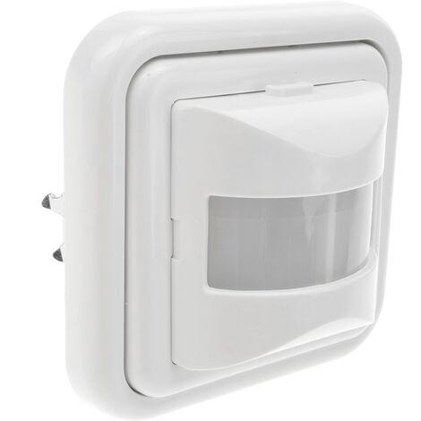 BeMatik - Detector movimiento y luz ambiental por infrarrojos de pared 80x80mm