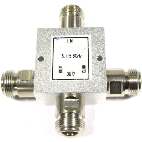 BeMatik - Divisor de 4 puertos WIFI de 5100 a 5900 MHz compacto