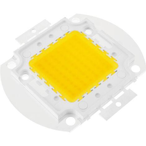 BeMatik - DIY LED COB 70W 5600LM 3000K warm white light emitting 40x55mm