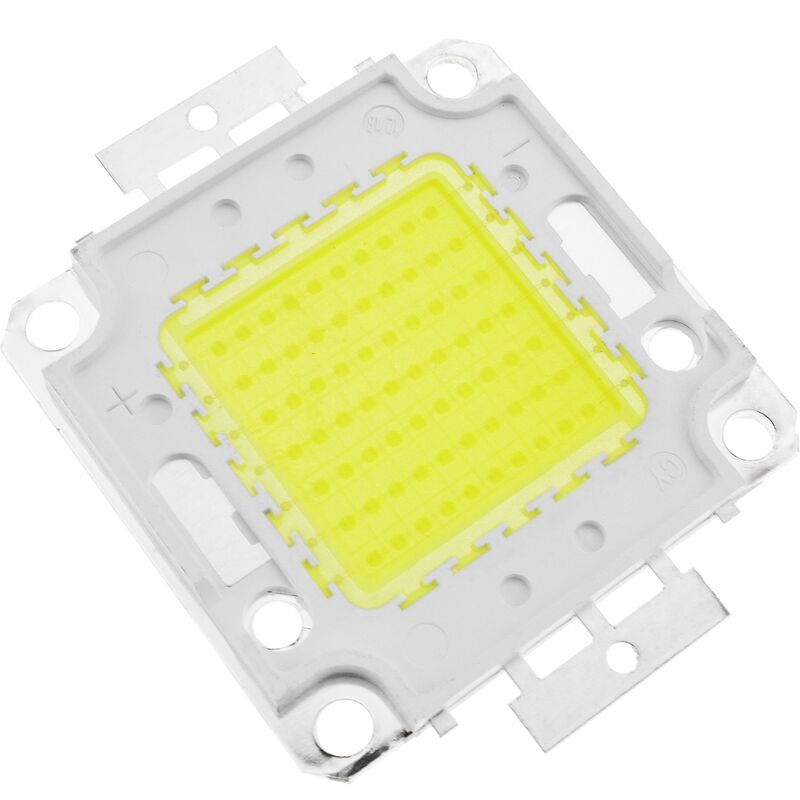 DIY LED COB 70W 5600LM 6000K di luce bianca giorno emettono 40x55mm - Bematik