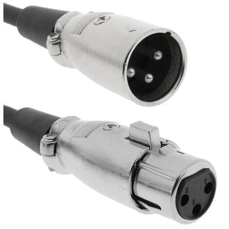 BeMatik - DMX512 DMX Cable XLR 3pin Male to 3pin XLR female 0.5 m