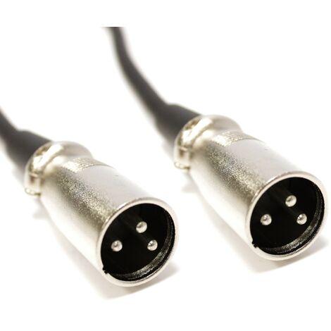 BeMatik - DMX512 DMX Cable XLR 3pin Male to 3pin XLR male 0.5 m