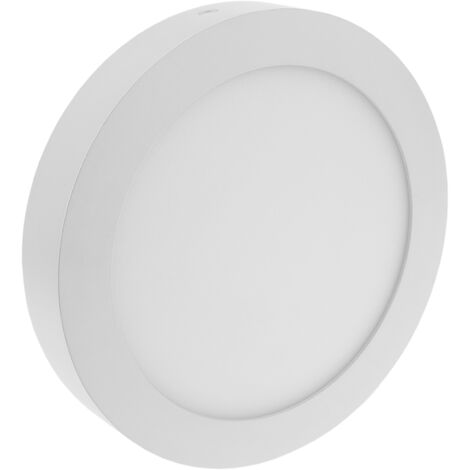 BeMatik - Downlight surface LED circular panel 215mm 18W with white daylight