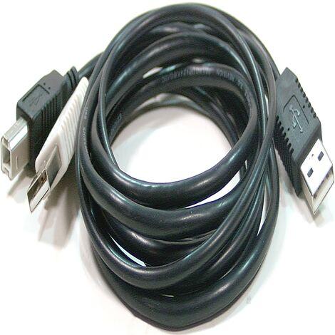 BeMatik - Dual USB 2.0 cable power 3m BM 2:00 a.m.
