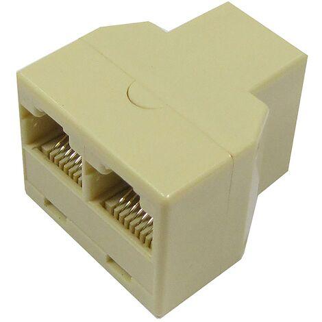 BeMatik - Duplicador de 1 RJ45 hembra a 2 RJ45 hembra