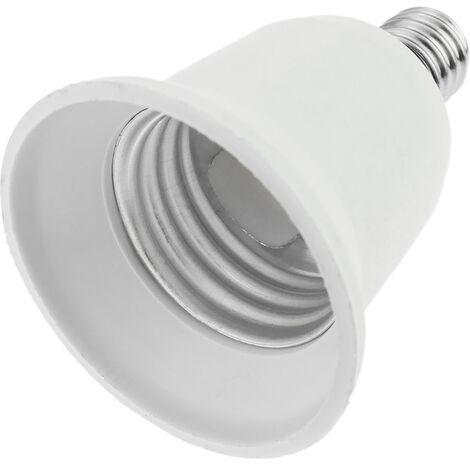 BeMatik - E14 to E27 adapter lamp light