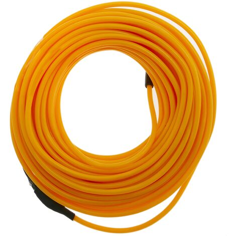 BeMatik - Electroluminescent wire coil 2.3mm gold 5m battery