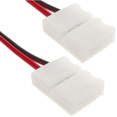 BeMatik - Empalme a presión con cable para tira de LED monocromo 8mm